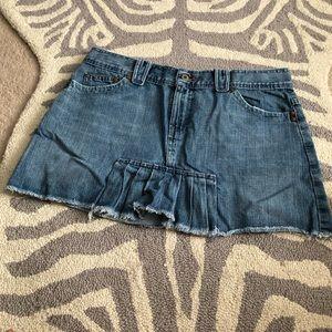 Old Navy Denim Front Pleat Skirt 12